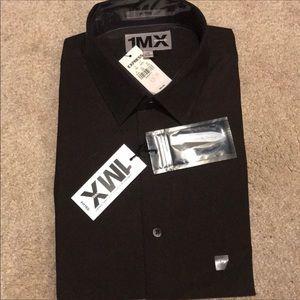 Express 1MX fitted dress shirt